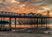 sunset at Hern Bay pier