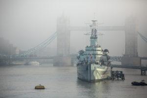 Belfast in fog 1
